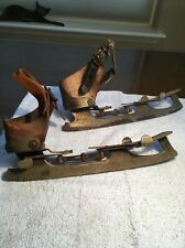 Vintage Ice Skates. Adjustable Strap On.   SAML. WINSLOW SKATE MFG CO.