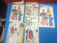 (5) vintage 1970s halloween costume sewing patterns