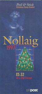 IRELAND Christmas Booklet SB60 - 20x28p self adhesive 18 November 1997