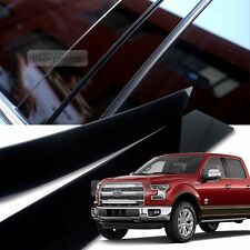 Glossy Black B Pillar Post UV Coating Cover Trim 4P For FORD 09-16 F150 Crew Cap