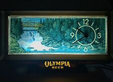 Vintage Olympia Beer Light Waterfall Clock Cash Register Topper