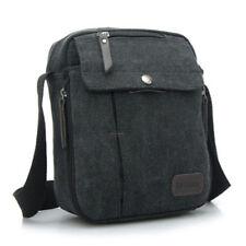 Men's Vintage Canvas Shoulder Bag Satchel School Military Messenger Bag Leather