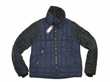 DIESEL W-FRANKIE NAVY QUILTED JACKET SIZE XL 100% AUTHENTIC