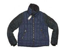 DIESEL W-FRANKIE NAVY QUILTED JACKET SIZE L 100% AUTHENTIC
