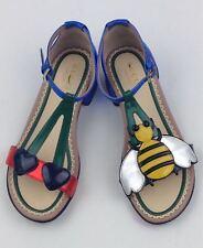 GUCCI Girls Bee Cerise Sandal sz 31
