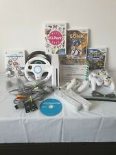 Wii Console & 13 Games Bundle With Leads, Remotes, Wheels & Controllers (G)