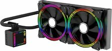 280mm AiO Water cooling 2 x 140mm Liquid CPU cooler for Intel AMD -iONZ Alseye