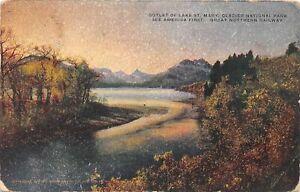 H70/ Glacier National Park Montana Postcard c1910 GN Railroad St Mary Lake 183