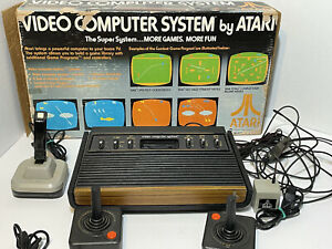 Original Atari 2600 Game/Console System In the Original Box w/3 Games, As-is