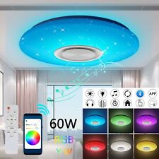 60W Dimmbar RGB LED Deckenleuchte Lampe Musik bluetooth Lautsprecher APP Remote
