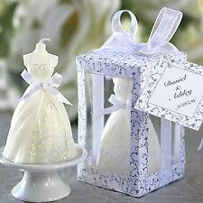 10pcs Elegant Boxed Bridal Bride Shape Candle Wedding Party Favors Decor White