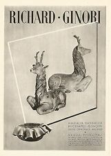 W9314 RICHARD-GINORI - Ceramiche d'arte - Pubblicità del 1939 - Vintage advert