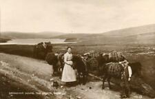 More details for real photo postcard of bringing home the peats, unst, shetland isles, scotland