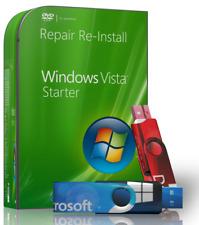 Windows Vista Starter Repair Reinstall Recovery Boot USB + Driver USB 64 Bit