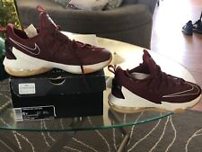 """New listing NIKE LEBRON 13 XIII LOW """"CAVS"""" TEAM RED/WHITE/GUM BOYS SIZE 6Y (834347-600)"""