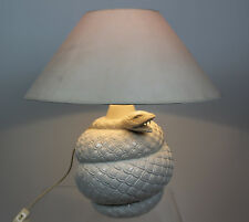 Cobra Lampe serpent céramique 70er design ITALY? table snake lamp 70 s