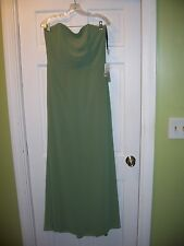 NWT After Six Size 12 Green Full Length Gown Bride Maid Prom