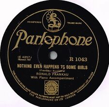 RONALD FRANKAU 78 - NOTHING EVER HAPPENS TO SOME GIRLS - CREPE SOLES