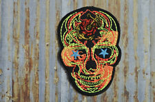 Terminator Style Mexcian Sugar Skull Machine Embroidered Iron On Or Sew On Patch