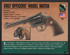 COLT OFFICERS' MODEL MATCH Revolver Gun Classic Firearms ATLAS PHOTO CARD