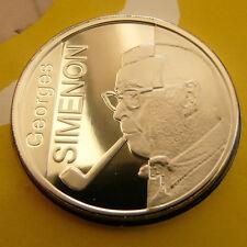2003 Belgium Silver Proof 10 euro-George Simenon-detective writer