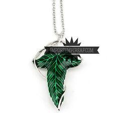 IL SIGNORE DEGLI ANELLI COLLANA SPILLA FOGLIA brooch lord of the rings necklace