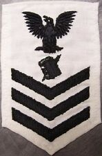 Embroidered Military Patch U S Navy rank insignia Personnel Specialist NEW white