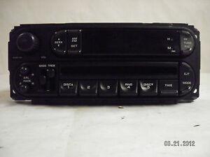 Dodge Jeep Chrysler 5 Disc CD Player Radio Factory P05091556AG AM FM BASS TREB