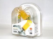 Nokya 2500K 27w Hyper Yellow 880/H27W/1 Halogen Fog Light Bulbs