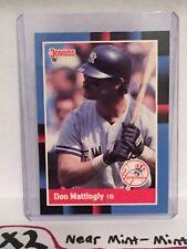 1988 Donruss Don Mattingly Baseball Card New York Yankees MLB #217 Dodgers HOF
