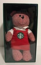 Starbucks Bear Limited Edition Christmas Holiday Girl Barista Red Apron 2016 NIB