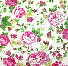 3x Single Paper Napkins Decoupage Craft Tissue Rose Flower Jacard Pattern M127