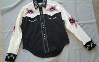 Rockmount Ranch Wear Cowgirl Womens Western Vintage 100% cotton Medium M