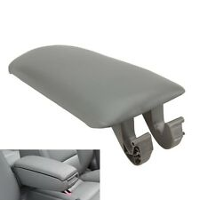 Leather Armrest Center Console Lid Cover for 2002-2005 Audi A4 S4 A6 S6 Grey