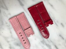 Officine Panerai Colorful Alligator Strap (Pink or Red) - 40mm