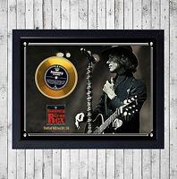 BUNBURY GRAN REX CUADRO CON GOLD O PLATINUM CD EDICION LIMITADA. FRAMED HEROES