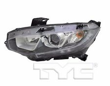 TYC NSF Left Side Halogen Headlight For Honda Civic None Touring 2016-2017 Model