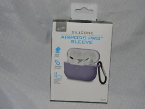 iLive Silicone AirPods Pro Sleeve for Case w/Carabiner & Neckband Strap - Purple