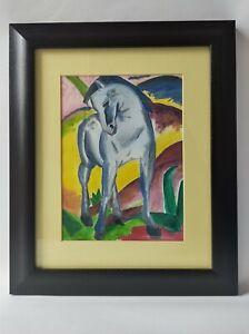 Franz Marc - Blue Horse • Blaues Pferd • Original oil copy