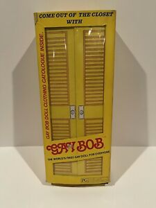 "Vintage 1977 Gay Bob Out Of The Closet 13"" Doll NIB RARE!"