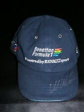 VINTAGE BENETTON F1 OFFICIAL TEAM CAP SIGNED MARK WEBBER