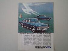 advertising Pubblicità 1970 FORD TAUNUS 20 M XL/26 M 26M