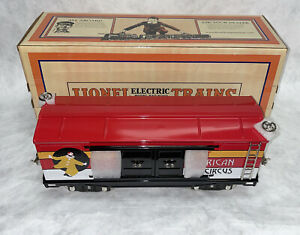 MTH 11-30113 Lionel Corporation Tinplate Standard Gauge 214 Circus Box Car NEW