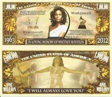 In Loving Memory of Whitney Houston Million Dollar Bills x 2 1963 2012