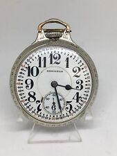 Hamilton 992 Pocket Watch 16s 21j Runs 14k BOC Case Model 2 WGF