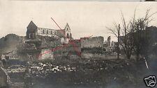 14377/ Originalfoto 7x13cm, zerstörtes Somme a Pys Champagne, 1916