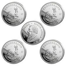 5 x 1 oz Silber Krügerrand 2017 - 1 Rand Südafrika - 50 Jahre Jubiläum