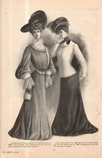 1904 Original Delineator Print - Blouse Jacket toilette, Skirt and Gored Coat