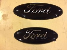 "2007-2010 FORD RANGER SPORT,EMBLEM SET,GLOSS BLACK CHROME LOGO,NO DECALS,9"" & 7"""
