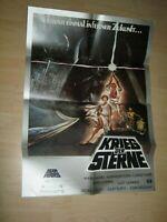 Krieg der Sterne Star Wars-H.Ford.C.Fisher-G.Lucas Orginal A1 Kinoplakat